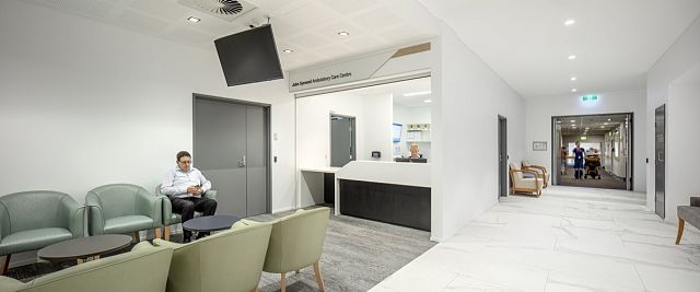 Maximum Calacatta and Travertino. St Vincent's Hospital, Sydney by Hassell - 01.jpg